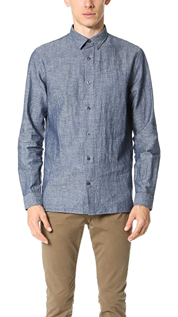 Vince Dark Chambray Melrose Shirt