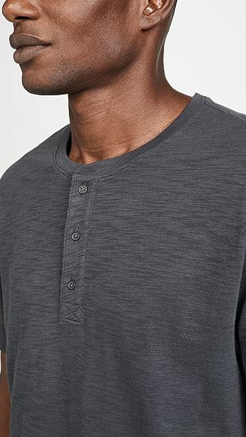Vince Classic Short Sleeve Slub Henley