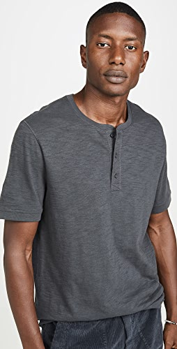 Vince - Classic Short Sleeve Slub Henley