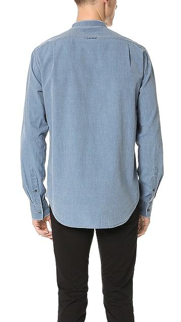 Vince Frayed Denim Shirt