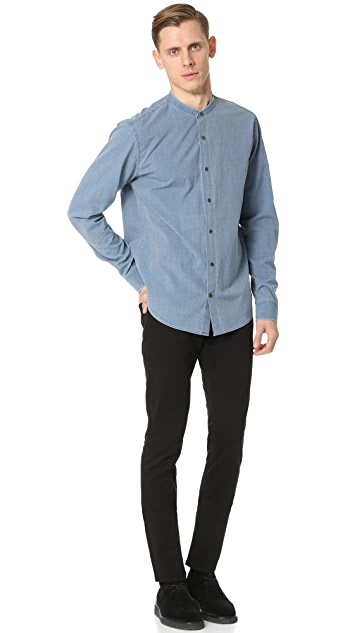 Vince Frayed Denim Shirt