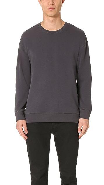 Vince Side Zip Crew Neck Sweatshirt