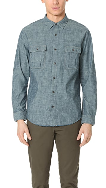 Vince Distressed Utility Shirt