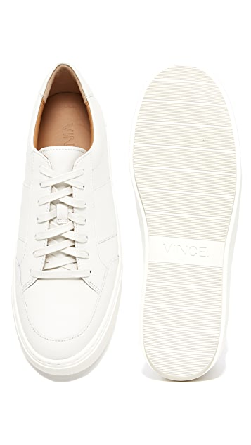 Vince Leonard Leather Sneakers