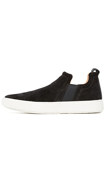 Vince Lucio Suede Pull On Sneakers