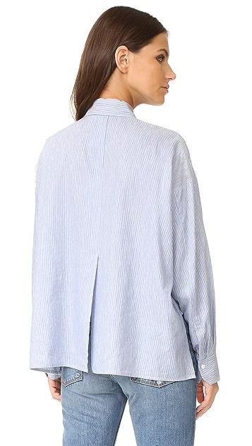 Vince Укороченная рубашка с длинными рукавами