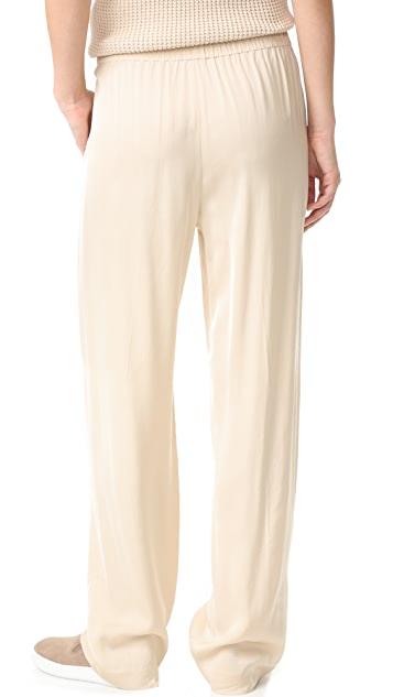 Vince Pleated Pull-On Trousers