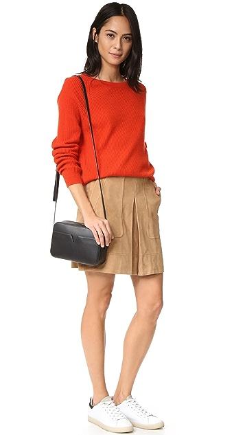 Vince Кашемировый свитер в рубчик
