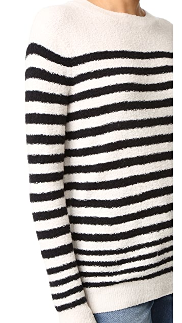 Vince Engineered Striped Pullover