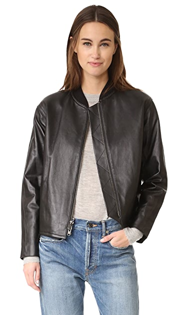 Vince Drop Shoulder Bomber Jacket