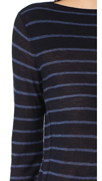 Vince 开司米羊绒条纹毛衣