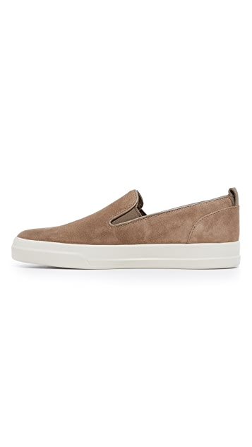 Vince Carson Suede Slip On Sneakers