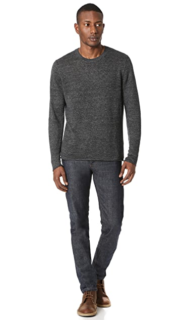 Vince Raw Edge Linen Crew Sweater
