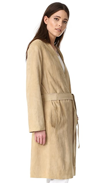 Vince Suede Robe Coat