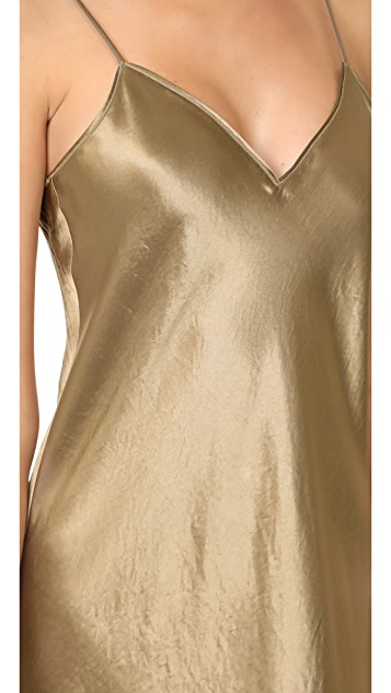 Vince V Neck Slip Dress
