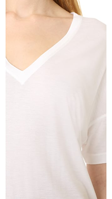 Vince Drop Shoulder V Neck
