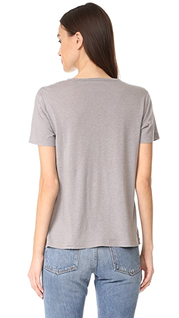 Vince Distressed Short Sleeve Tee