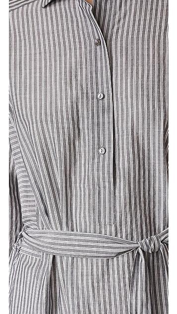 Vince Double Stripe Shirtdress
