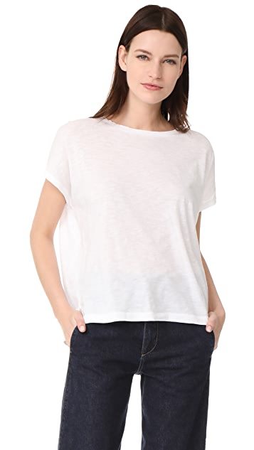 Vince Stacked Hem Boy Tee