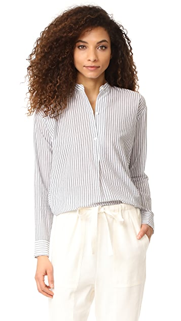 Vince Double Stripe Pullover Shirt