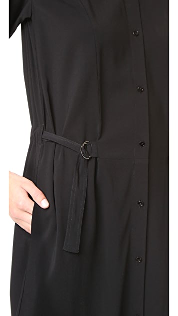 Vince Drawstring Shirtdress