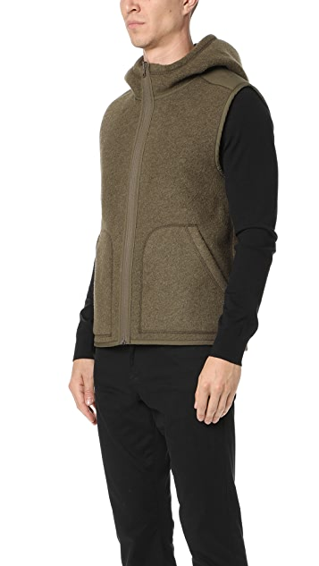 Vince Reversible Sherpa Hooded Vest