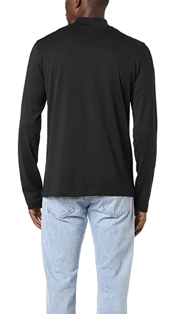 Vince Long Sleeve Mock Neck Jersey Tee