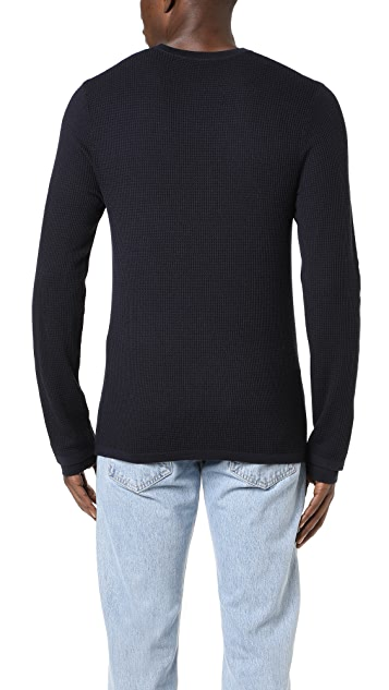 Vince Double Layer Crew Neck Sweater