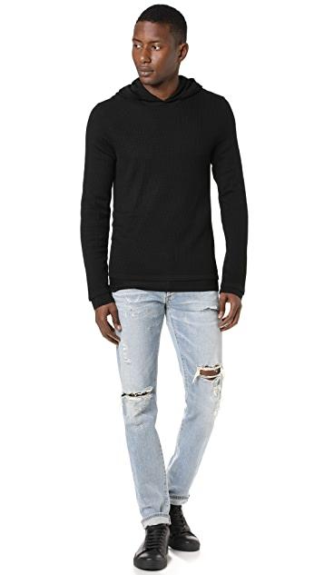Vince Double Layer Mesh Hoodie