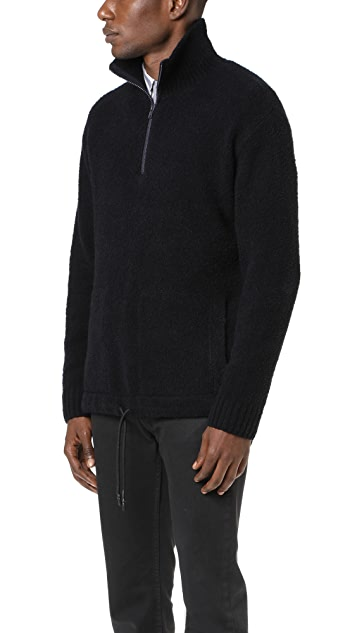 Vince Terry Drawstring Half Zip Sweater