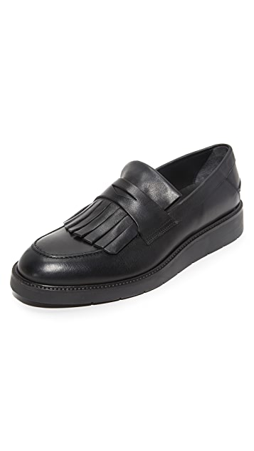 Vince Pollock Leather Kilty Loafers