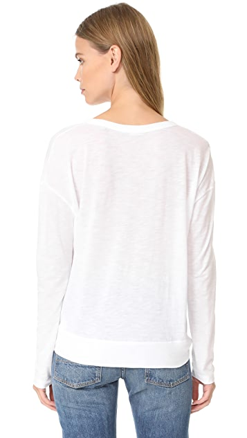 Vince Drop Shoulder Crew Neck Tee