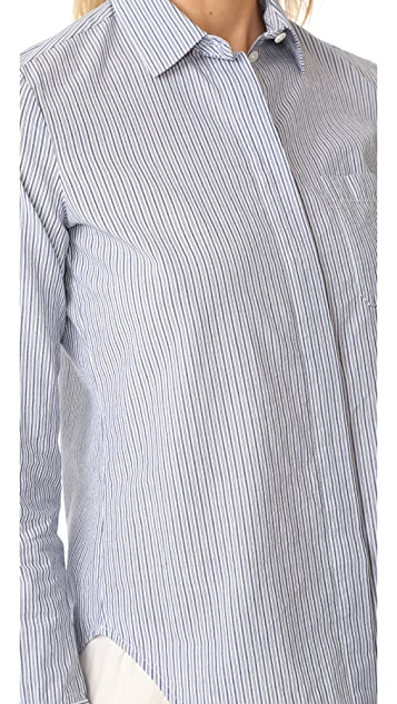 Vince Mixed Stripe Fitted Shirt