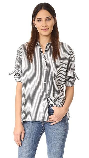 Vince Striped Boxy Shirt