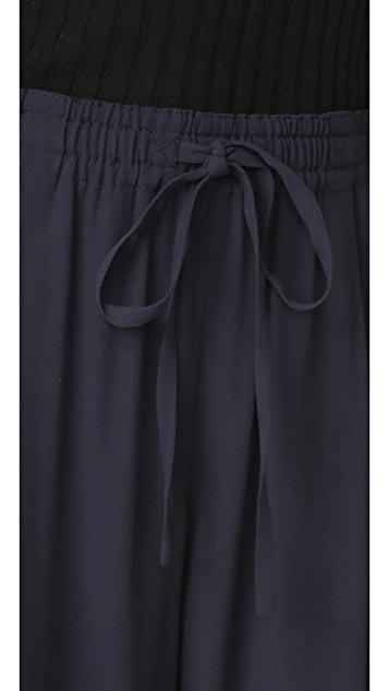 Vince Draped Drawstring Cropped Pants