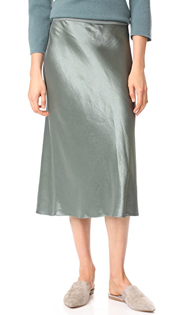 Vince Elastic Waist Slip Skirt