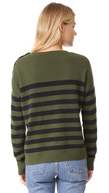 Vince Shoulder Button Cashmere Sweater