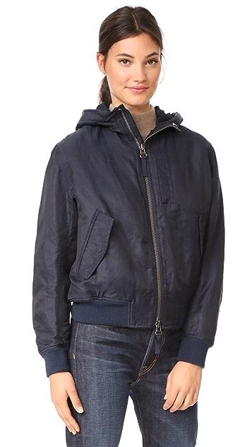 Vince Fur Trimmed Bomber Jacket