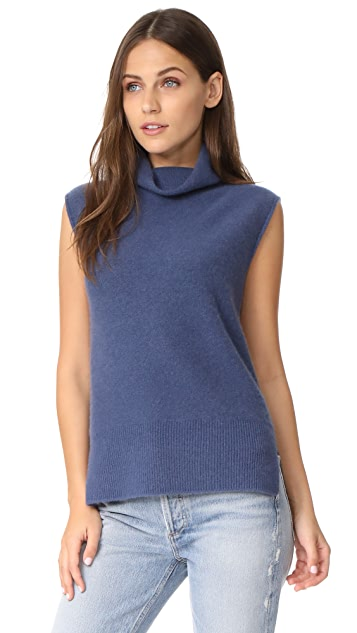 Vince Sleeveless Turtleneck Sweater