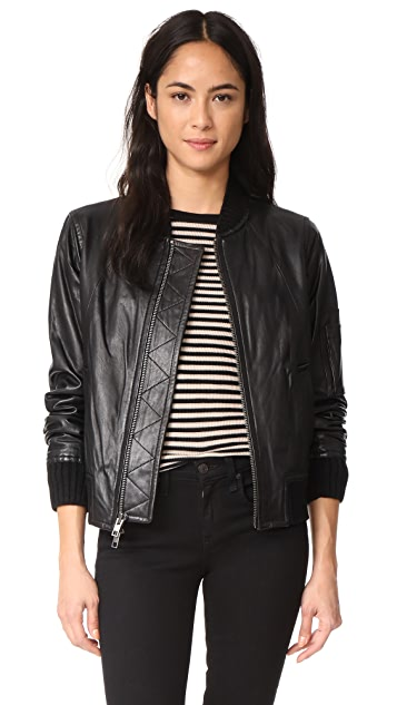 44c1ce537 Leather Bomber