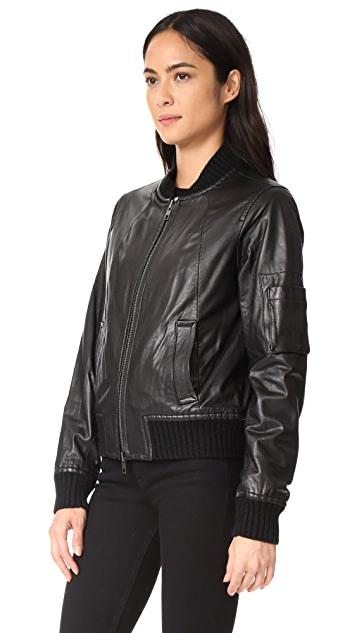 Vince Leather Bomber