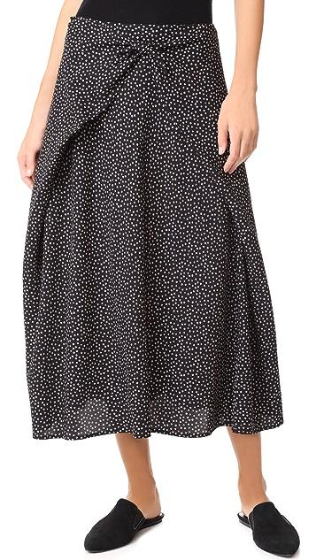 Vince Tie Front Skirt