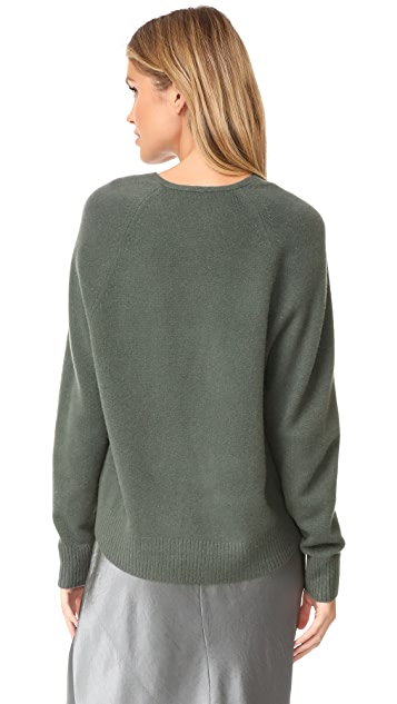 Vince Deep V Cashmere Sweater