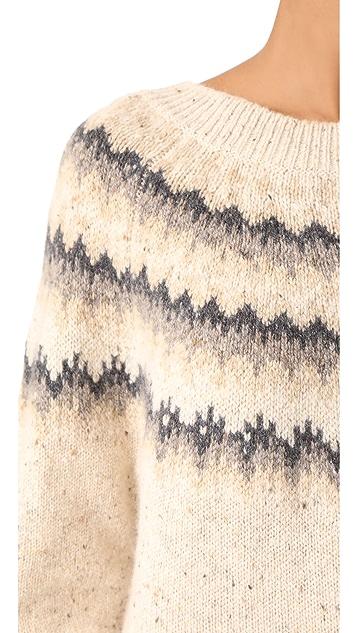 Vince Fair Isle Raglan Sweater