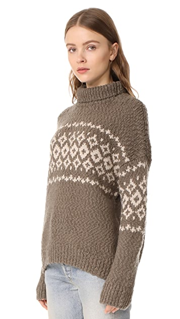 Vince Fair Isle Turtleneck Sweater | SHOPBOP
