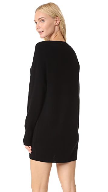 Vince Boat Neck Sweater Dress