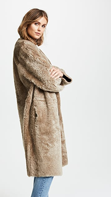 Vince Reversible Shearling Coat