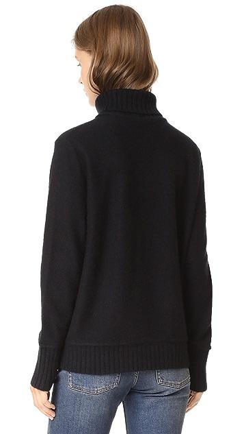 Vince Felted Cashmere Turtleneck Sweater