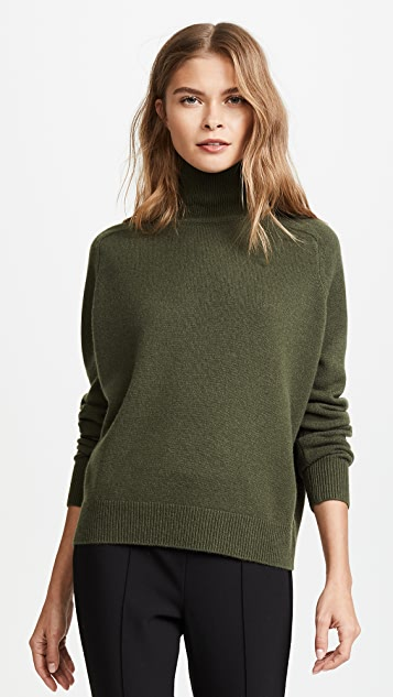 Vince Saddle Cashmere Turtleneck Sweater