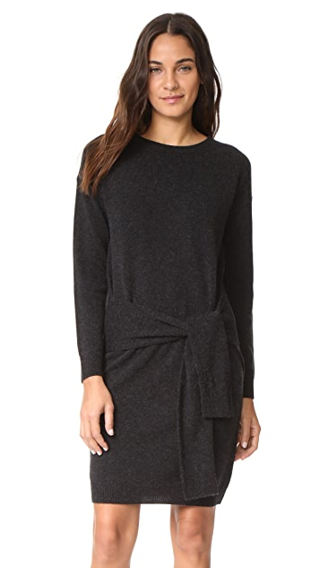 Vince Long Sleeve Tie Waist Sweater Dress